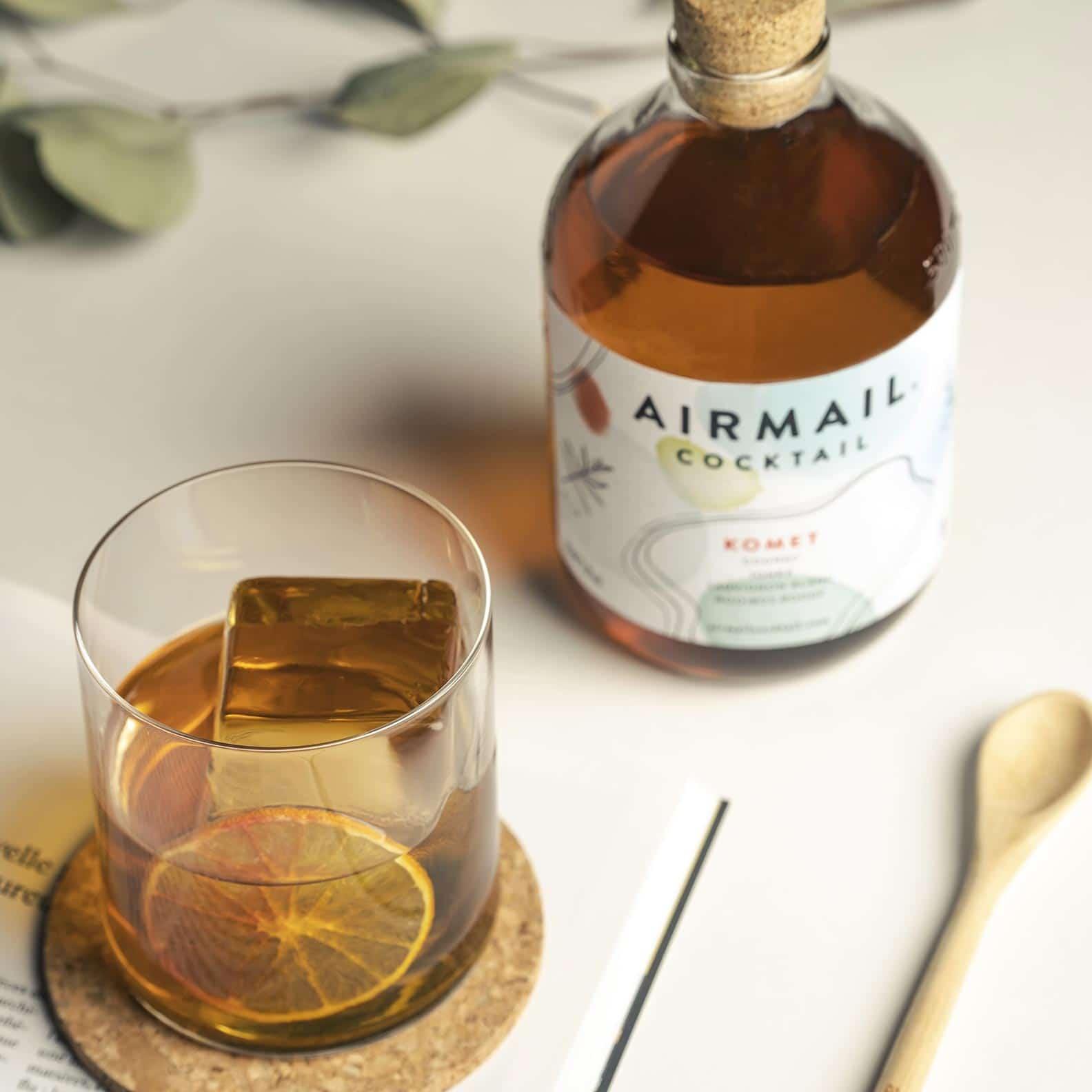 airmail cocktail komet inspiration